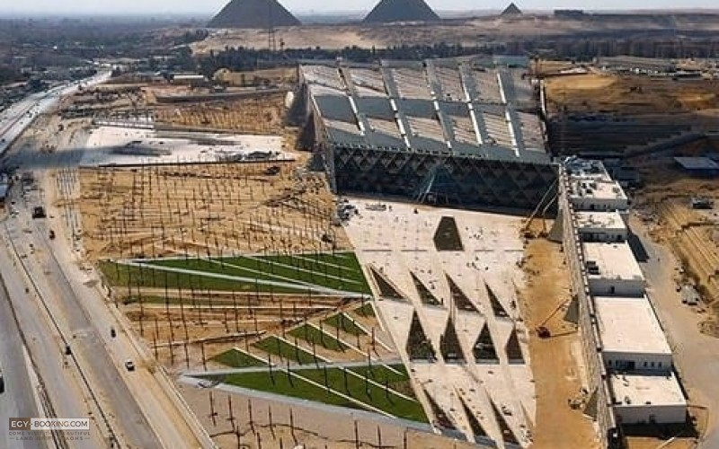 "Cinematic footage of the Grand Egyptian Museum ""as you have never seen it before"". Soon we will dazzle the world !!"