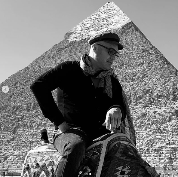International American Actor Billy Zain, Star of Titanic, Visits The Pyramids.