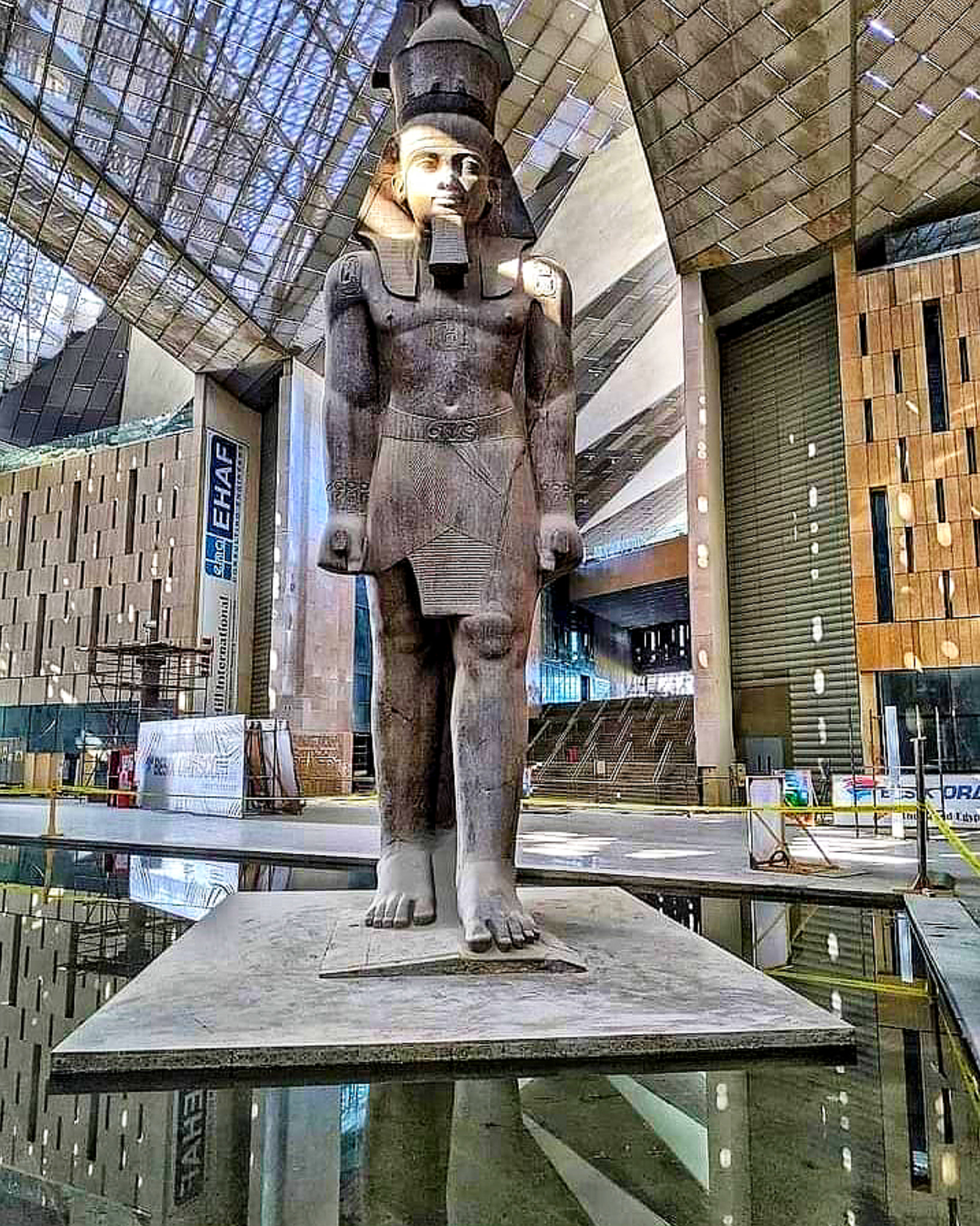 """Cinematic footage of the Grand Egyptian Museum """"as you have never seen it before"""". Soon we will dazzle the world !!"""